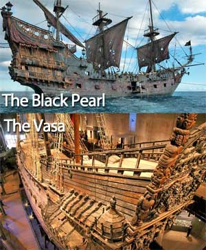 The Black Pearl and the Vasa