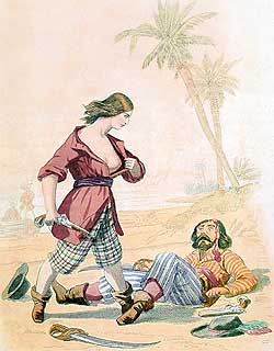 The woman pirate Mary Read